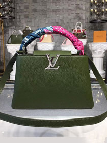 Louis vuitton original taurillon leather capucines bb N92040 green