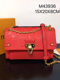Louis vuitton original monogram empreinte vavin pm M43936 red