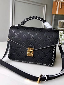 2019 louis vuitton original monogram empreinte metis M43942 black