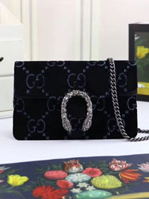 GG original velvet dionysus mini shoulder bag 476432 black