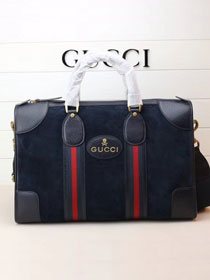 2018 GG orignal suede courrier soft supreme duffle bag 459311 black
