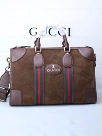 2018 GG orignal suede courrier soft supreme duffle bag 459311 coffee