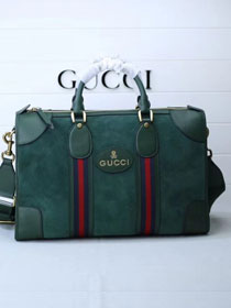 2018 GG orignal suede courrier soft supreme duffle bag 459311 green