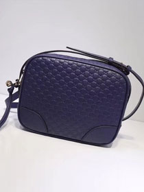 2019 GG original signature calfskin mini shoulder bag 449413 navy blue