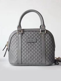 2019 GG original signature calfskin top handle bag 449654 grey`