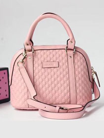 2019 GG original signature calfskin top handle bag 449654 pink