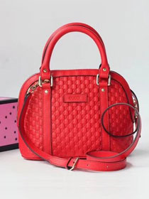 2019 GG original signature calfskin top handle bag 449654 red