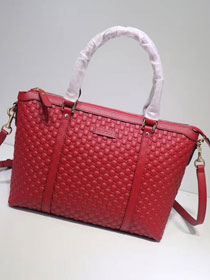 2019 GG original signature calfskin tote bag 449656 red