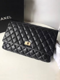 2019 CC original aged calfskin clutch A91796 black