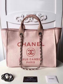 CC original canvas large shopping tote bag A66941 pink