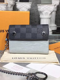 Louis vuitton damier ebene rivets chain wallet M63510