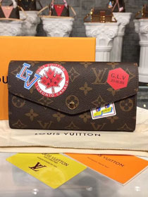 Louis vuitton monogram canvas sarah wallet m60531 red