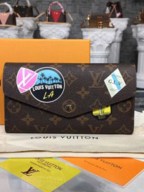 Louis vuitton monogram canvas sarah wallet m60531 rose red