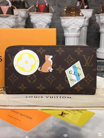 Louis vuitton monogram canvas zippy wallet M63392 black