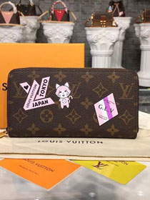 Louis vuitton monogram canvas zippy wallet M63392 pink