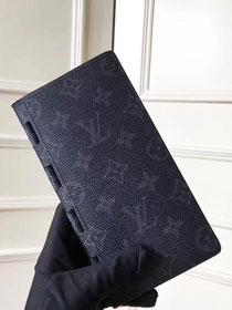 Louis vuitton monogram eclipse brazza wallet M66544