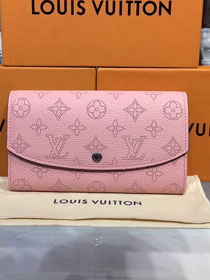 Louis vuitton original mahina leather iris wallet M60145 pink