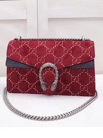 2018 GG dionysus original velvet medium shoulder bag 400249 red