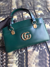 f55dcf46f6ff 2019 GG original calfskin arli large top handle bag 550130 green