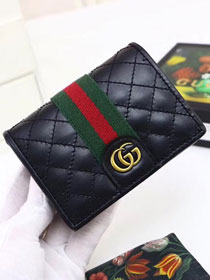GG original calfskin card case with Double G 536453 black
