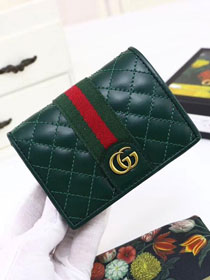 GG original calfskin card case with Double G 536453 green