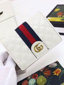 GG original calfskin card case with Double G 536453 white