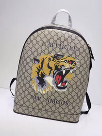 GG original canvas tiger print supreme large backpack 419584 black