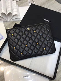 2019 CC original lambskin clutch A81619 black