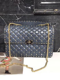 Valentino original lambskin rockstud large chain bag 0121 light blue