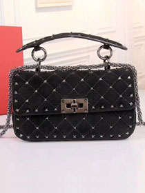 Valentino original suede rockstud small chain bag 0123 black