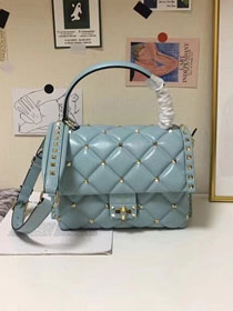 2019 Valentino original lambskin candystud handbag 0155 light blue