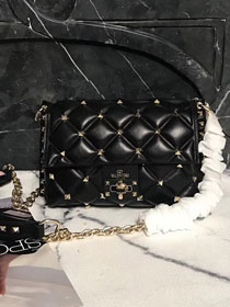 2019 Valentino original lambskin candystud small chain bag 0172 black
