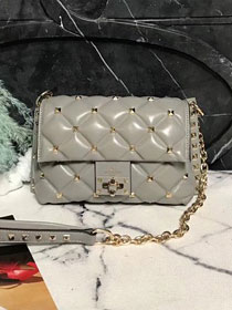2019 Valentino original lambskin candystud small chain bag 0172 grey