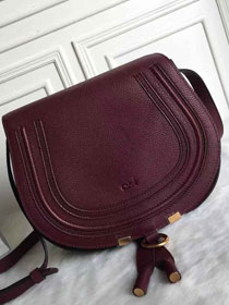 Chloe original calfskin large marcie crossbody saddle bag 2019 bordeaux
