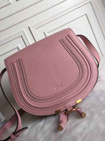 Chloe original calfskin large marcie crossbody saddle bag 2019 pink