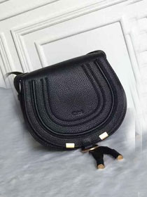 Chloe original calfskin marcie crossbody saddle bag 2000 black
