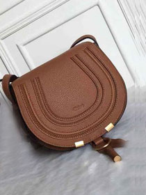 Chloe original calfskin marcie crossbody saddle bag 2000 brown