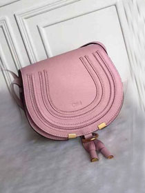 Chloe original calfskin marcie crossbody saddle bag 2000 pink