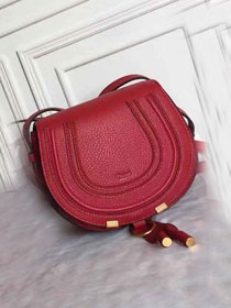 Chloe original calfskin marcie crossbody saddle bag 2000 red