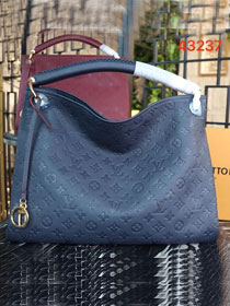 Louis vuitton original calfskin monogram empreinte artsy mm M43237 navy blue