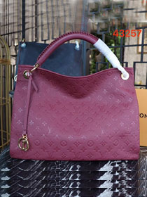 Louis vuitton original calfskin monogram empreinte artsy mm M43257 burgundy