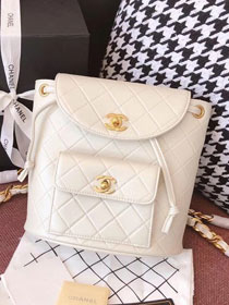 2018 CC original lambskin leather backpack A91126 white