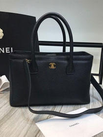 CC original grained calfskin classic tote bag A50355 black