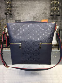 2019 louis vuitton original monogram empreinte melie hobo M44012 navy blue