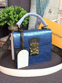 2019 louis vuitton original vernis leather spring street bag m90373 blue