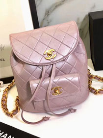 2019 CC original lambskin leather backpack A91126 pink