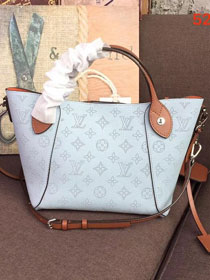 2018 louis vuitton original mahina leather hina pm M52975 light blue