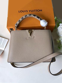 2019 louis vuitton original calfskin capucines bb M52384 grey