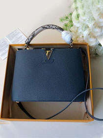 2019 louis vuitton original calfskin capucines bb M52986 navy blue