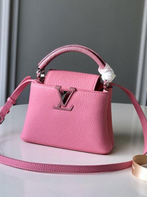 2019 louis vuitton original calfskin capucines bb M54200 pink